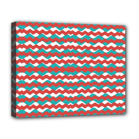 Geometric Waves Deluxe Canvas 20  X 16   by dflcprints