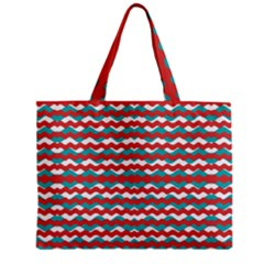 Geometric Waves Zipper Mini Tote Bag by dflcprints