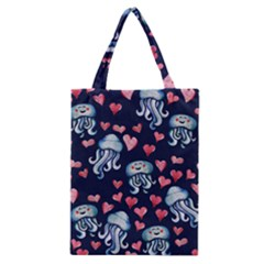 Jellyfish Love Classic Tote Bag by BubbSnugg