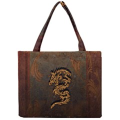 Awesome Dragon, Tribal Design Mini Tote Bag by FantasyWorld7