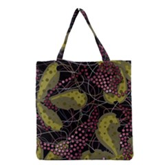 Abstract Garden Grocery Tote Bag by Valentinaart