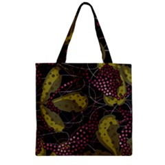 Abstract Garden Zipper Grocery Tote Bag