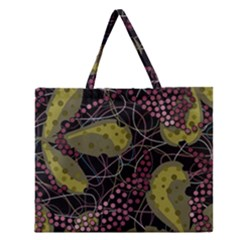 Abstract Garden Zipper Large Tote Bag by Valentinaart