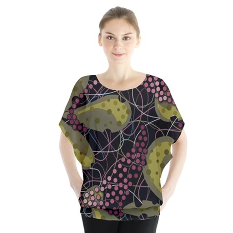 Abstract Garden Blouse by Valentinaart
