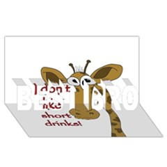 Giraffe Joke Best Bro 3d Greeting Card (8x4) by Valentinaart