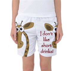 Giraffe Joke Women s Basketball Shorts by Valentinaart