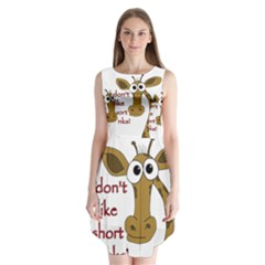 Giraffe Joke Sleeveless Chiffon Dress   by Valentinaart
