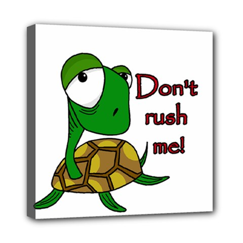 Turtle Joke Mini Canvas 8  X 8  by Valentinaart