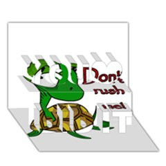 Turtle Joke You Did It 3d Greeting Card (7x5) by Valentinaart