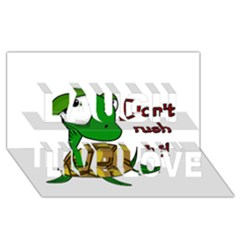 Turtle Joke Laugh Live Love 3d Greeting Card (8x4) by Valentinaart
