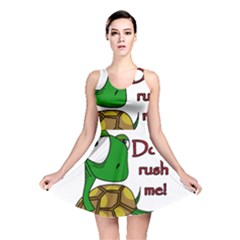 Turtle Joke Reversible Skater Dress by Valentinaart