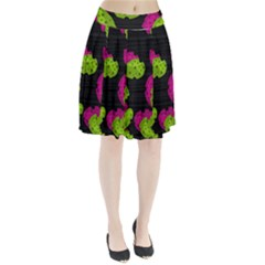 Decorative Leafs  Pleated Skirt by Valentinaart