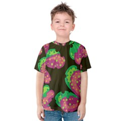 Colorful Leafs Kids  Cotton Tee by Valentinaart