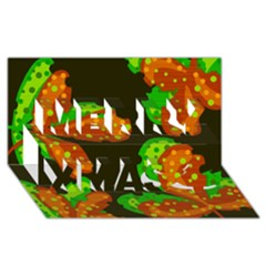 Autumn Leafs Merry Xmas 3d Greeting Card (8x4) by Valentinaart