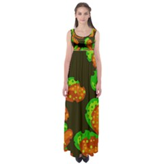 Autumn Leafs Empire Waist Maxi Dress by Valentinaart