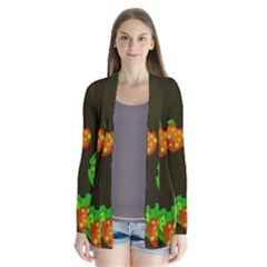 Autumn Leafs Drape Collar Cardigan by Valentinaart