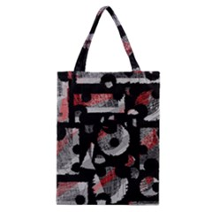 Red Shadows Classic Tote Bag by Valentinaart