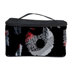 Red Shadows Cosmetic Storage Case by Valentinaart