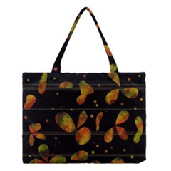 Floral Abstraction Medium Tote Bag by Valentinaart
