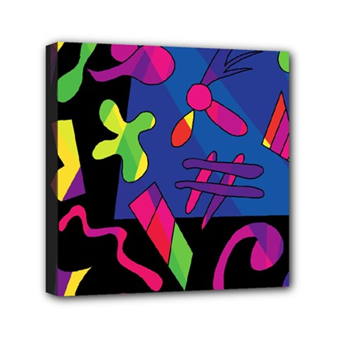 Colorful Shapes Mini Canvas 6  X 6  by Valentinaart