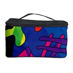 Colorful Shapes Cosmetic Storage Case by Valentinaart