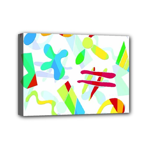 Playful Shapes Mini Canvas 7  X 5  by Valentinaart