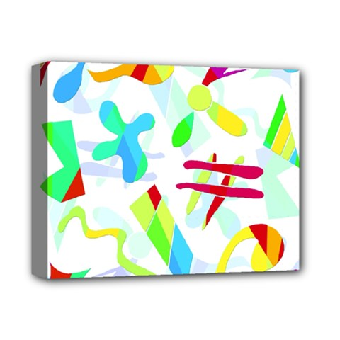 Playful Shapes Deluxe Canvas 14  X 11  by Valentinaart