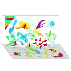 Playful Shapes Sorry 3d Greeting Card (8x4) by Valentinaart