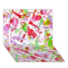Summer I Love You 3d Greeting Card (7x5)
