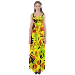 Fire Empire Waist Maxi Dress by Valentinaart