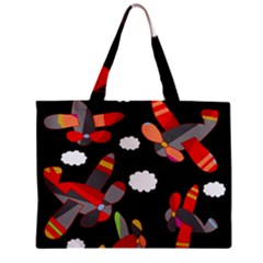 Playful Airplanes  Zipper Mini Tote Bag by Valentinaart