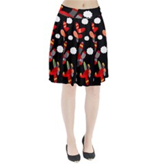 Playful Airplanes  Pleated Skirt by Valentinaart