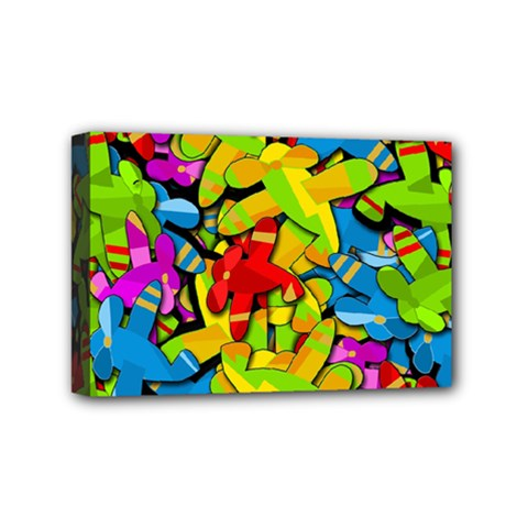 Colorful Airplanes Mini Canvas 6  X 4  by Valentinaart