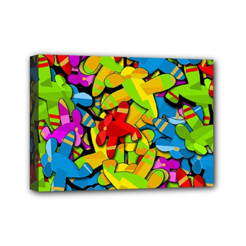 Colorful Airplanes Mini Canvas 7  X 5  by Valentinaart