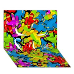 Colorful Airplanes Clover 3d Greeting Card (7x5)