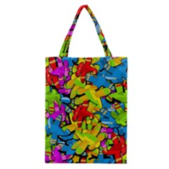 Colorful Airplanes Classic Tote Bag by Valentinaart