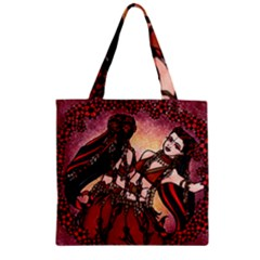 Gemini Tribal Twins Zipper Grocery Tote Bag