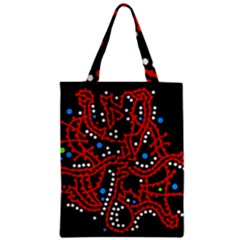 Red Fantasy 2 Zipper Classic Tote Bag by Valentinaart