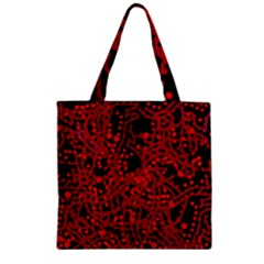 Red Emotion Zipper Grocery Tote Bag