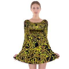 Yellow Emotions Long Sleeve Skater Dress