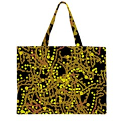Yellow Emotions Zipper Large Tote Bag by Valentinaart