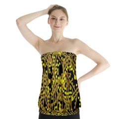 Yellow Emotions Strapless Top by Valentinaart