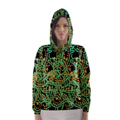 Green Emotions Hooded Wind Breaker (women)