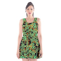 Green Emotions Scoop Neck Skater Dress by Valentinaart