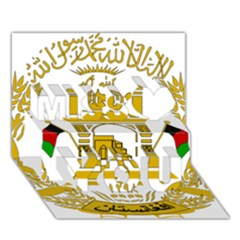 Emblem Of Afghanistan, 2004 2013 Miss You 3d Greeting Card (7x5)