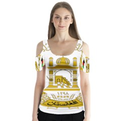 Emblem Of Afghanistan, 2004 2013 Butterfly Sleeve Cutout Tee