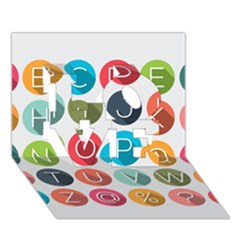 Alphabet Love 3d Greeting Card (7x5)