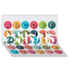 Alphabet #1 Dad 3d Greeting Card (8x4) by AnjaniArt