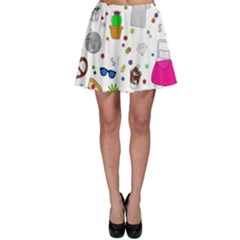 Animals Fruite Cake Lip Pattern Skater Skirt