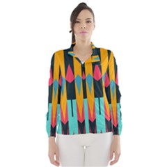 Shapes And Stripes                                                                                                             Wind Breaker (women)